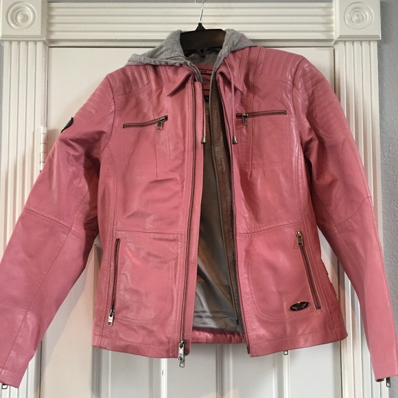official supplier kid highly coveted range of Harley-Davidson Women's Pink Label Leather Jacket NWT